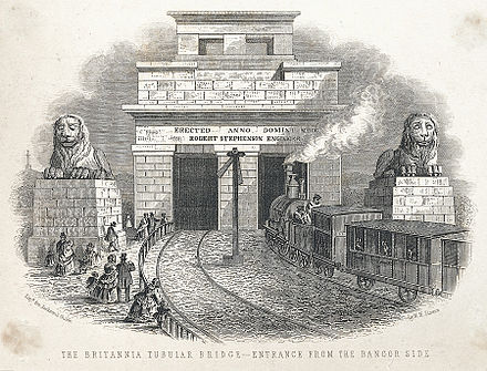 britannia bridge 1850s