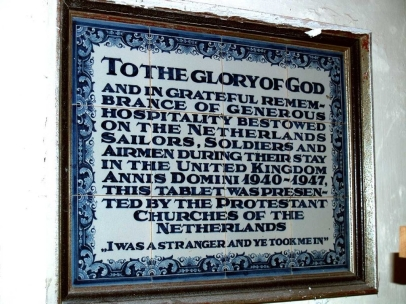 Dutch Plaque at St. Cybi's Church, Holyhead